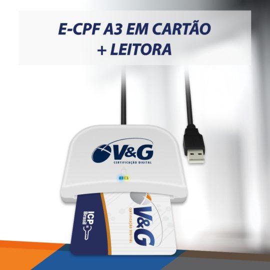 e-cpf A3 em cartão + leitora